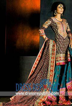 Bridal Lehengas Coral Springs, FL, Wedding Lehenga Choli Shops Coral Springs, Florida from DressRepublic. Pakistani Couture, Pakistani Bridal Wear, Pakistani Dresses, Indian Bridal, Indian Dresses, Indian Outfits, Asian Fashion, Boho Fashion, Ethnic Fashion