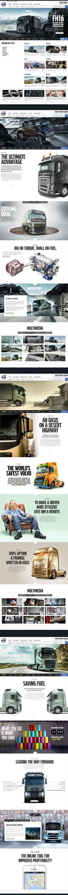 Volvo Trucks - Global Website by Thomas Moeller, via Behance