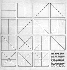 image:Title page from 'Straight lines in four directions and all their possible combinations' 1973 etching collection of the National Gallery of Australia Eva Hesse, National Gallery, Ambient Occlusion, Possible Combinations, Color Shapes, Conceptual Art, Textures Patterns, Graphic Illustration, Illustrations