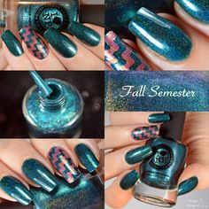 ILNP - Fall Semester | ILNP Fall 2014 | August 15, 2014 | Fall Semester is a wonderfully deep and sultry teal holographic nail polish that's beautiful indoors and spectacular in the sunlight.  If you're looking for the perfect dark teal, Fall Semester is just right for the season!