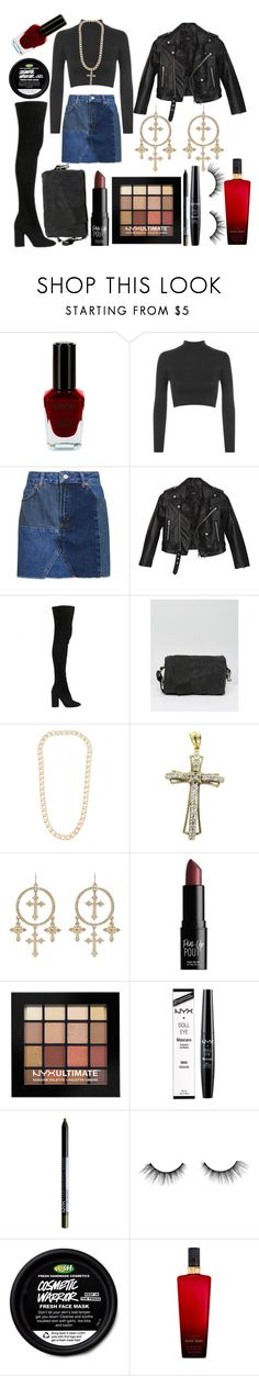 """""""OOTD 3.9.17"""" by dangel36 ❤ liked on Polyvore featuring NYX, WearAll, Topshop, Nasty Gal, Public Desire, Vita Fede, Ultimate, tarte and Victoria's Secret"""