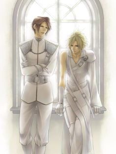 Cloud and Leon in White Armor