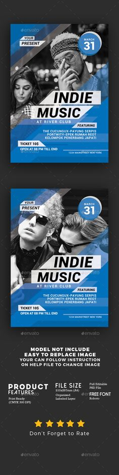 #Indie Music Event Flyer - #Events #Flyers