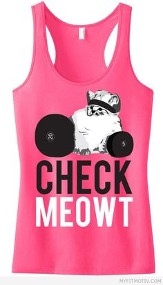 I Love this #Workout tank! CHECK MEOWT Pink Racerb - http://myfitmotiv.com/i-love-this-workout-tank-check-meowt-pink-racerb-2/ #fitness #workout #motivation #training #crossfit