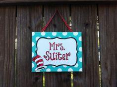 Dr. Seuss teacher classroom door sign by LillouHandmade on Etsy, $20.00