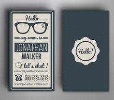 Vintage Typographic Business Card Templates Stationary Love - Vintage business card template