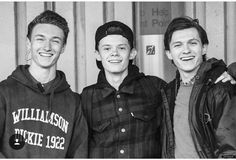 Tom with his brother & best friend on set on Homecoming