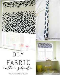 DIY fabric roller shade. So fun and easy to make!