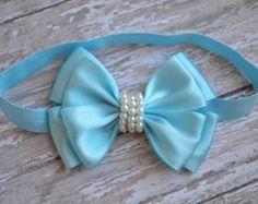 Ivory Bow Headband Baby Bow headband by LilMajestyBoutique
