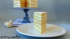 Lemon White Cake (a traditional recipe) - simonacallas Tall Cakes, Take The Cake, Cake Flour, Cake Mold, Serving Plates, Recipe Using, Tray Bakes, Yummy Cakes