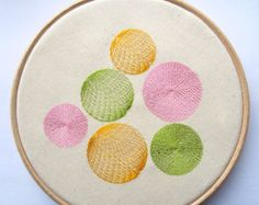 Flowers Embroidery Hoop Art Blooms and Swirls by sometimesiswirl
