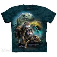 Wolf Lookout T-Shirt by Tami Alba   TheMountain.com   #WolfShirtWednesday