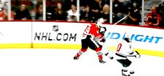 Jonathan Toews lays a beautiful hit on Granlund right before his goal. O Captain, My Captain! #BecauseItsTheCup