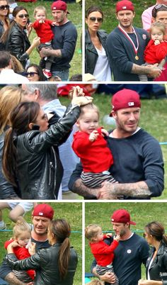 They are the most hands on celebrity parents I have ever seen - David, Victoria, and Harper Beckham