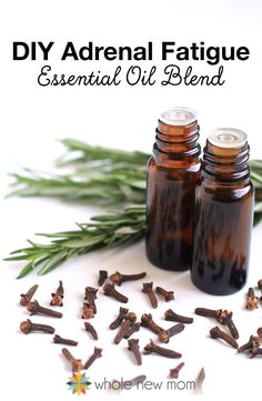 #DIY Adrenal Fatigue #EssentialOils Blend Pinned for you by https://organicaromas.com
