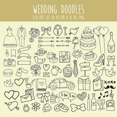 Hand drawing Scribble Sketch drawing Wedding by seaquintdesign