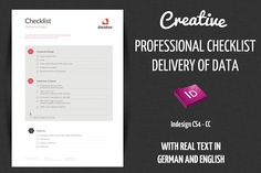 Checklist - Delivery creative data by OFFI on @creativemarket