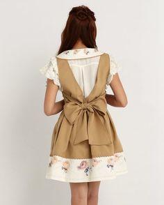 LIZ LISA Back Ribbon Pinafore Dress 4