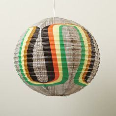 The Land of Nod | Rainbow Paper Lantern in Party Décor
