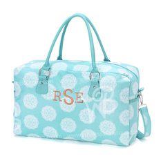 Overnight Bag Aqua Medallion Maddie Weekend by PersonalizedPoshy Weekend Travel Bag, Weekend Trips, Monogram Tote, Large Tote, Travel Bags, Purses And Bags, Aqua, Weekender, Duffel Bag