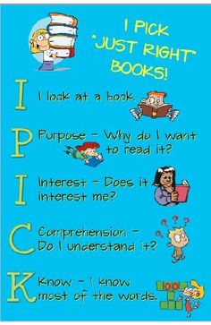 I PICK books for elementary school and other ideas for class