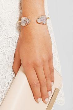 Kimberly McDonald|18-karat rose gold, geode and diamond cuff|NET-A-PORTER.COM