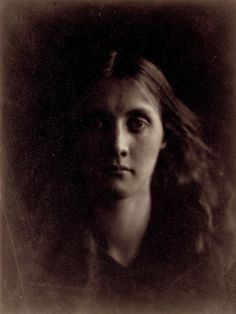 """This is a portrait of Julia Jackson by Julia Margaret Cameron in 1857. It is of interest to note that Julia's second marriage produced the painter Vanessa Bell and the writer Virginia Woolf. Virginia Woolf wrote of her mother Julia, """"...bore about with her, she could not help knowing it, the torch of her beauty; she carried it erect into any room that she entered."""""""