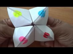 Origami - How to use and play with a Fortune Teller (Paku-Paku) - YouTube