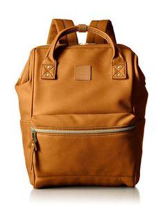 7f6692f99a89 Γυναικειο Backpack Anello 1212B σε Camel χρώμα για όλες τις ώρες Rucksack  Bag