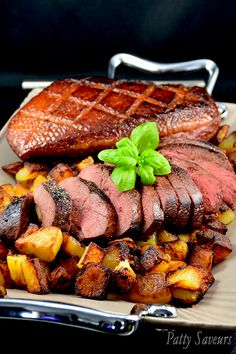 Grilled Duck Breasts and Sautéed Potatoes
