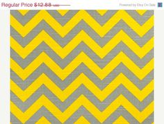ON SALE PREMIER Prints Chevron Corn and by Cathyscustomfabrics