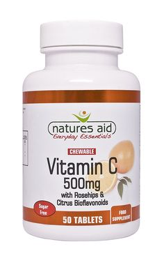 Natures Aid 500mg Vitamin C Sugar Free Chewable with Rosehips and Citrus Bioflavonoids - Pack of 50 Tablets ** Learn more by visiting the image link. (This is an Amazon Affiliate link and I receive a commission for the sales)
