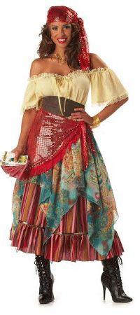 Adult Super Deluxe Fortune Teller or Gypsy Costume - Gypsy Costumes  sc 1 st  Pinterest & 51 best Gypsy Costumes images on Pinterest | Carnivals Fashion ...