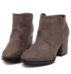 Korean Style Cusp Head Thin Heels Shoes Woolen Boot--Click the picture can place an order, we support wholesale.