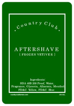 Country Club Aftershave - Frozen Vetiver