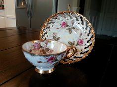 Vintage Royal Sealy Floral Rose Tea Cup