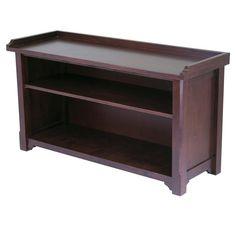 Winsome Wood 94640 Milan Bench with Storage shelf