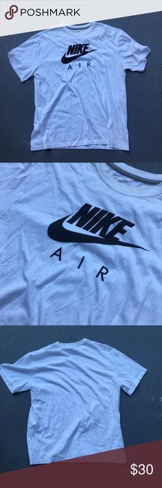 White Nike tee White big logo Nike tee Excellent condition  No stains no damages no holes  Fits perfect to size  Willing to negotiate offer  Come check out the rest of my closet   Vintage vintage vtg retro 90s check Nike Shirts Tees - Short Sleeve