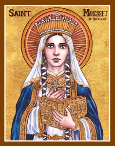St. Margaret of Scotland icon by Theophilia.deviantart.com on @DeviantArt