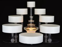 Amazon.com: 8 Tier Cascade Wedding Cake Stand: Kitchen & Dining