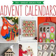 Here are LOADS of ideas for all kinds of DIY advent calendars, from family heirloom quality advent calendars to super easy one-time-use projects!