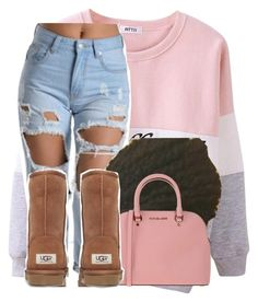 Mood by deasia-still-thugin-honey ❤ liked on Polyvore featuring beauty, Michael Kors, UGG Australia and mood