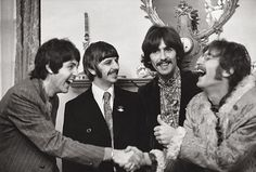 The Beatles together in London in 1968. Photograph by Linda McCartney, courtesy of Taschen.