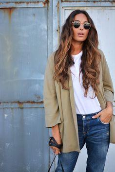DIY khaki blazer + jeans | stellawantstodie waysify
