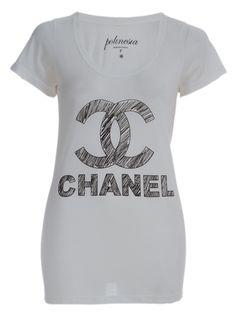 POLINESIA TEES Camiseta Off White Com Estampa.