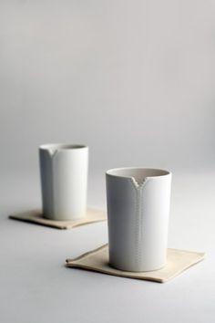 Ceramic Zipper Cups by Molla Space.