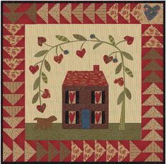 Jan Patek Quilts: Tutorial on Outside Curves and Windows with Shutters House Quilt Block, Quilt Blocks, Small Quilts, Mini Quilts, Make Do, Blog Art, Flag Quilt, Primitive Quilts, Summer Quilts