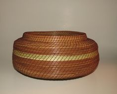 Pine needle basket pine needle vessel perfect by TwistedandCoiled