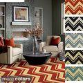 nuLOOM Handmade Alexa Chevron Wool Rug (5' x 8') | Overstock.com Shopping - The Best Deals on 5x8 - 6x9 Rugs