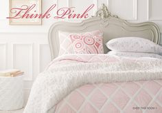 Pink diamond quilt and shams for big girl room